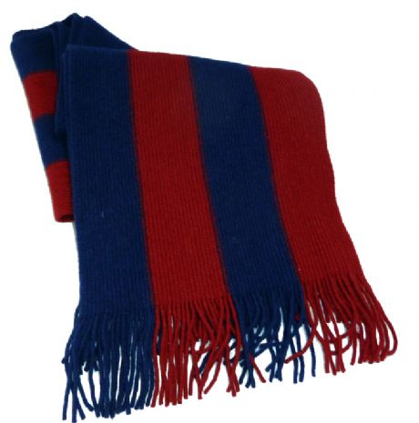 Scots Guards lambs wool knitted scarf in the guards division colours.